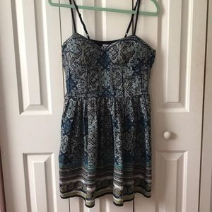 Plus Size Mini Pattern Dress